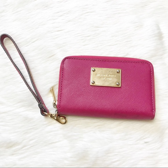 MICHAEL Michael Kors Handbags - Michael Michael Kors Leather Fuchsia Wristlet